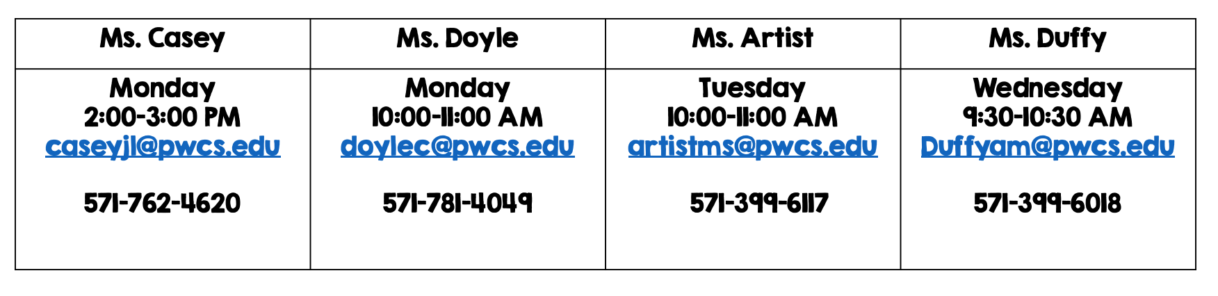 ESOL and SPLE Office Hours